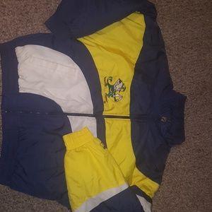 Vintage notre dame logo 7 jacket